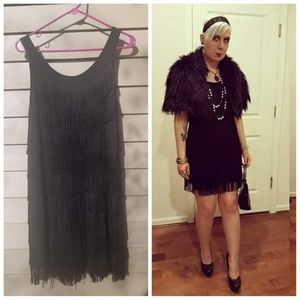 Hell Bunny Limited Edition Fringed Flapper Dress